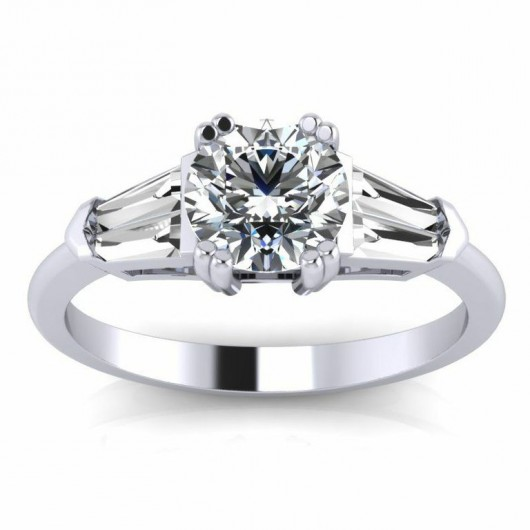 Round Cut Diamond Engagement Ring 0 75 2 5 Carat 8 Gs 3 Stones In White Or Yellow Gold 14kt 18kt Perfect Unity 34